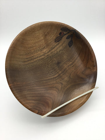 Black Walnut plate by Robert Larson