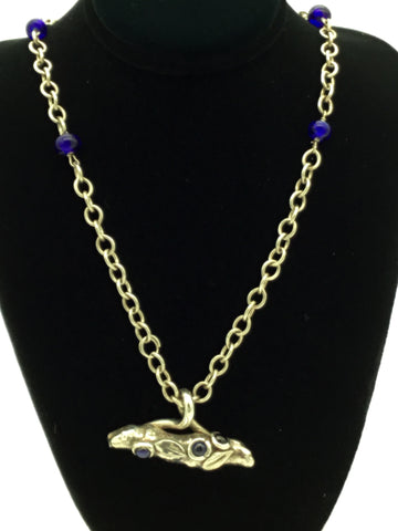 BLUEBERRY BRANCH PMC NECKLACE BY BERTHIEL EVENS
