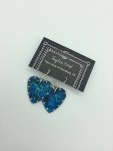Heart Earrings w/ blue patina | Taylen Reed