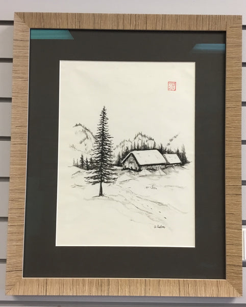 Sumi-e Landscape (framed) | Austen Coulson | Multiple Originals Available