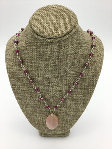 Pink and Red stone/crystal necklace | Taylen Reed