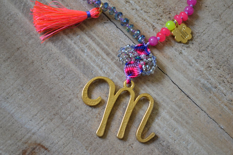 """M"" Necklace"
