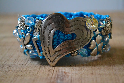 Small Turquoise Heart Prayer