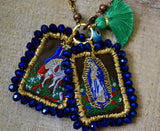 Scapulary St. George  and Virgen of Guadalupe