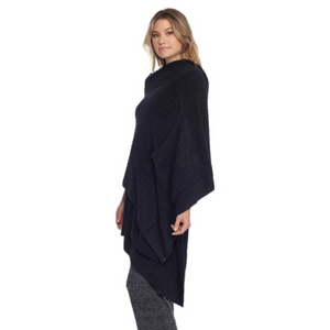 Barefoot Dreams CozyChic Lite Travel Shawl, Black/One Size