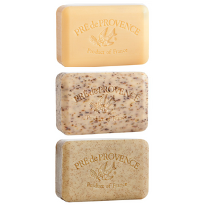 Pré de Provence French Soap Trio, Naturals - Great Gift for Men