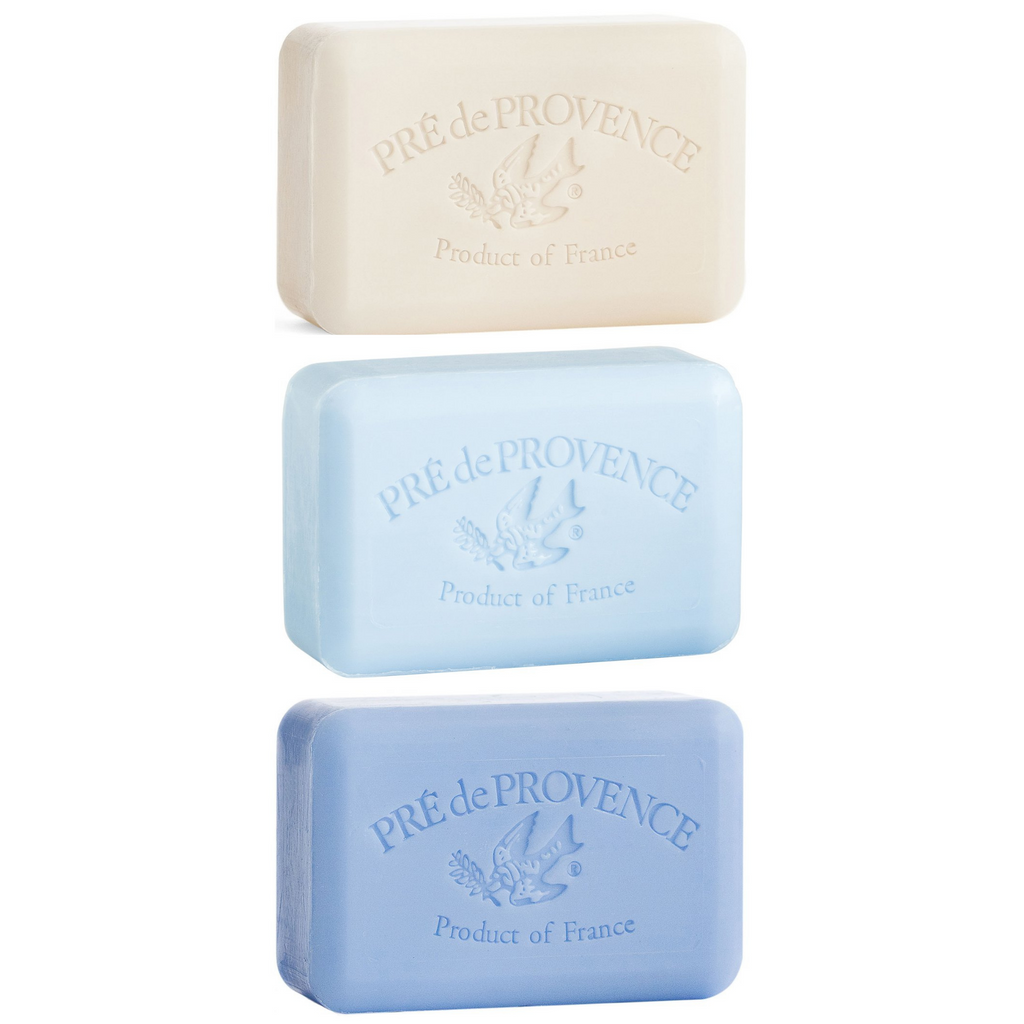 Pré de Provence French Soap Trio, Bright Blues