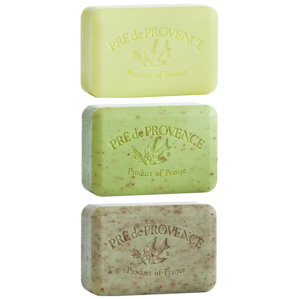 Pré de Provence French Soap Trio, Earthy Greens