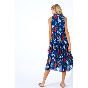 Oliphant Ruffle Tiered Midi Dress