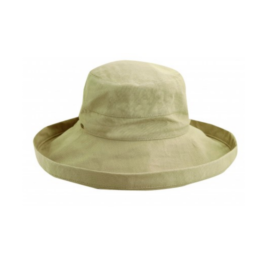 Scala Large Brim Bucket Hat - Khaki