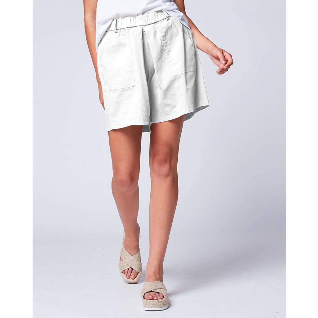 Patch Pocket Shorts - White