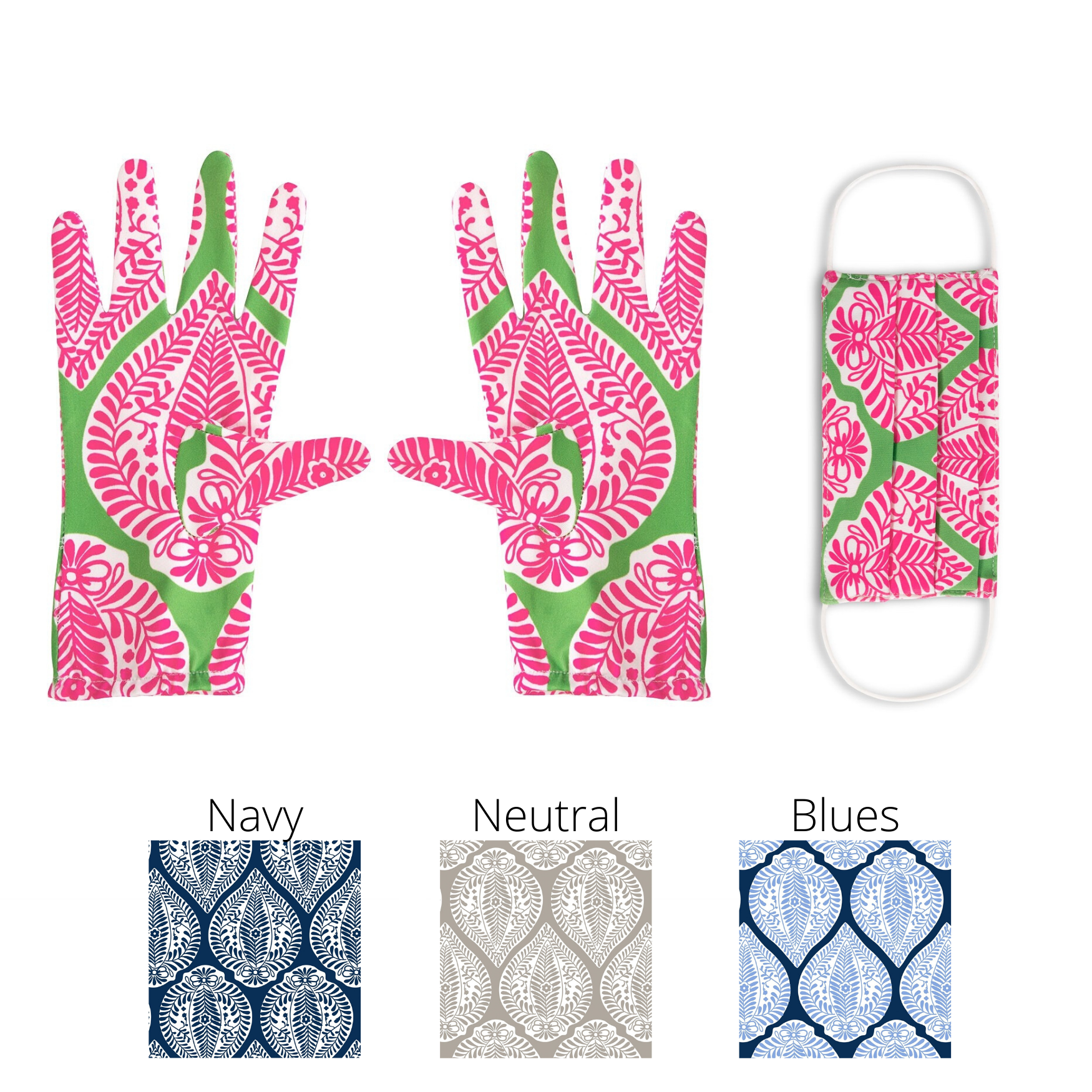 Gretchen Scott Mask and Grocery Glove Set