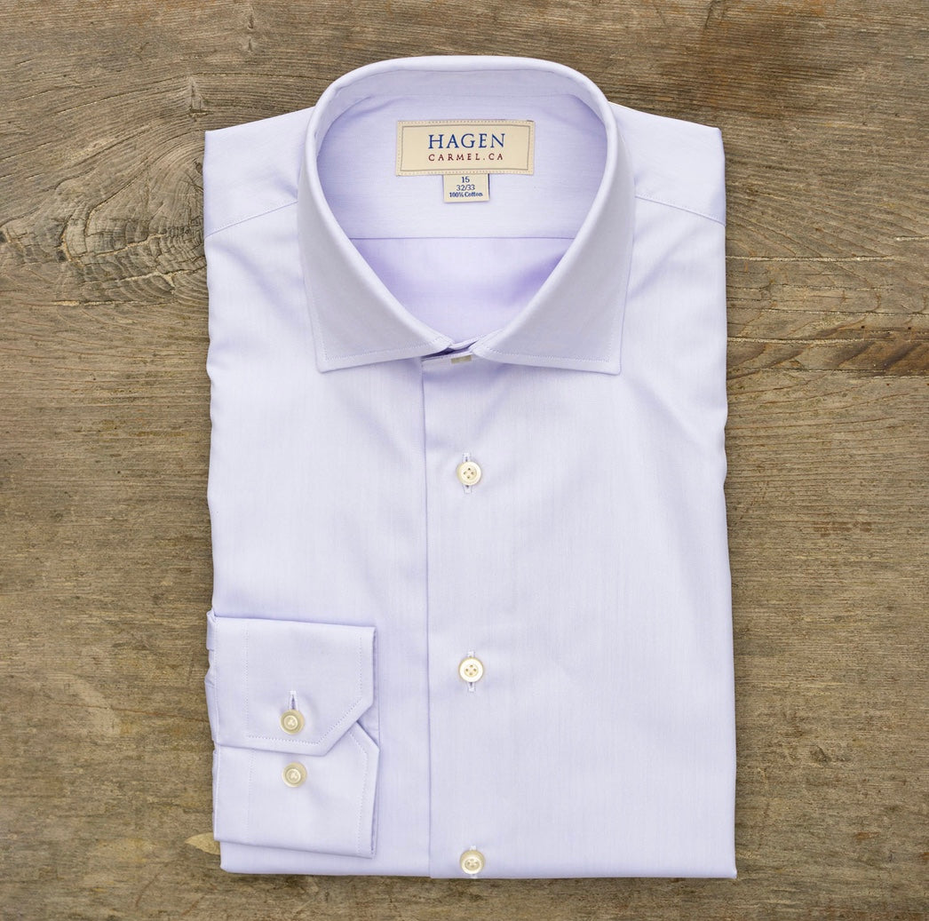 HAGEN Super Fine Twill Lilac Tailored Fit