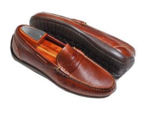 Martin Dingman Shoe (Saxon Pebble Grain Penny) Luggage