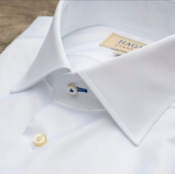 HAGEN Super Fine Twill White Tailored Fit