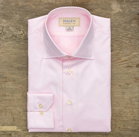 HAGEN Super Fine Twill Pink Tailored Fit