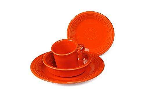 4-Piece Place Setting Made in the USA Orange