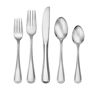 45 Piece Classic Rim Silverware Set Made in the USA
