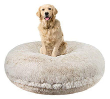 Load image into Gallery viewer, Blonde Color Luxury Shag Extra Plush Dog Bed Made in USA