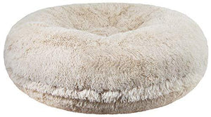 Blonde Color Luxury Shag Extra Plush Dog Bed Made in USA