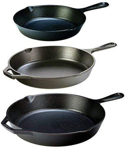 Cast Iron 3 Piece Skillet Set Made in the USA