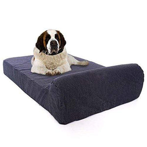 Gel Memory Foam Orthopedic Dog Bed with Bolster Made in USA