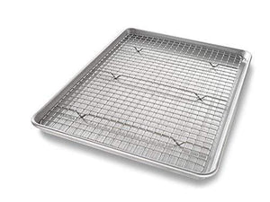 Half Sheet Baking Pan with Cooling Rack Made in the USA