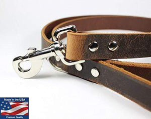 Leather Dog Leash Made in the USA