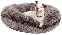 Load image into Gallery viewer, Medium Shag Plush Dog Bed Made in USA