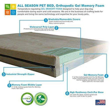 Load image into Gallery viewer, Orthopedic Gel Memory Foam Dog Bed Made in USA