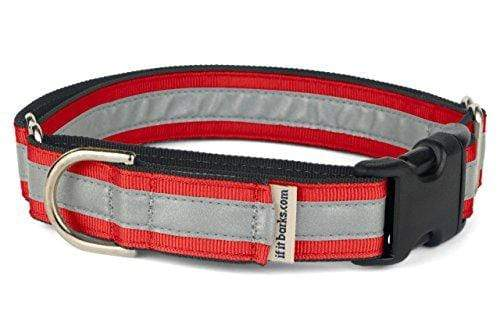 Reflective Adjustable Dog Collar Made in USA