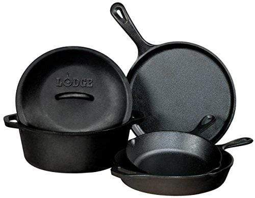 Seasoned Cast Iron 5 Piece Cookware Set Made in the USA