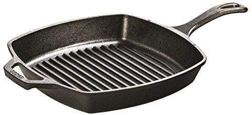 Square Cast Iron Grill Pan Pre-seasoned Made in the USA