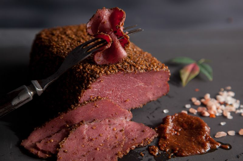 WILD PEACOCK Free Range Ostrich - Pastrami sliced (125g) - Together Store South Africa