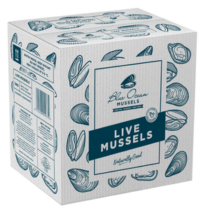 BLUE OCEAN West Coast Black Mussels - Live (5kg) - Together Store South Africa