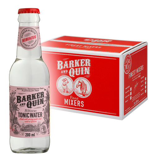 BARKER & QUIN Hibiscus Tonic Water Glass 200ml - Together Store South Africa
