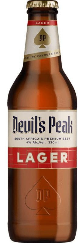 DEVIL'S PEAK Lager 330ml (24s) - Together Store South Africa