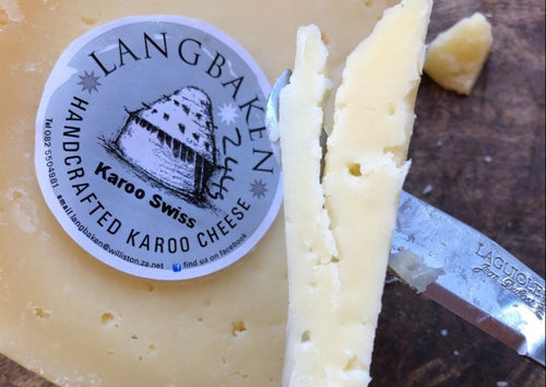 LANGBAKEN Karoo Swiss Cheese - 200g wedge - Together Store South Africa