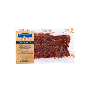 WILD PEACOCK Free Range Ostrich Bacon sliced (125g) - Together Store South Africa
