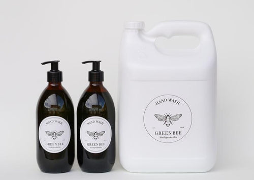 PROBIOTIC HAND & BODY WASH - 5 litres PLUS 2 x 500ml glass countertop bottles with black pump dispensers - Together Store South Africa