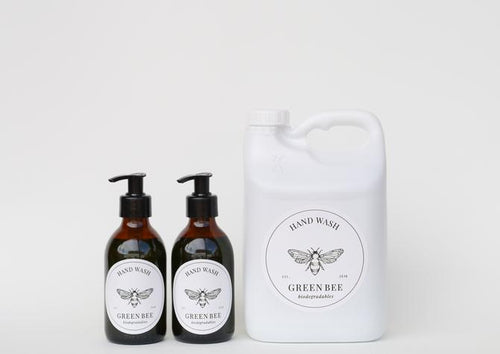 PROBIOTIC HAND & BODY WASH - 2 litres PLUS 2 x 200ml glass countertop bottles with black pump dispensers - Together Store South Africa