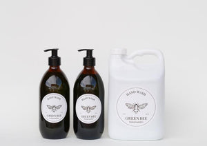 PROBIOTIC HAND & BODY WASH - 2 litres PLUS 2 x 500ml glass countertop bottles with black pump dispensers - Together Store South Africa