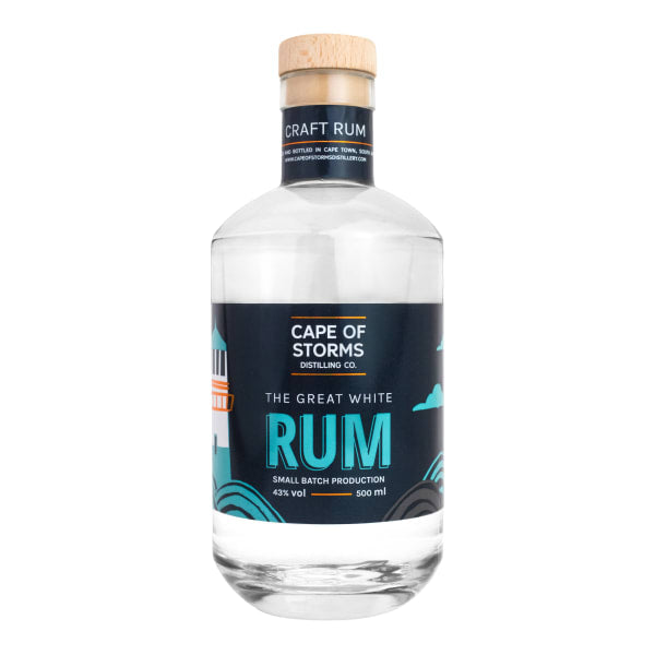 CAPE OF STORMS DISTILLING CO. The Great White Rum (500ml) - Together Store South Africa