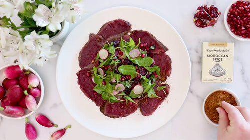 WILD PEACOCK Free Range Ostrich - Carpaccio Karoo Gold (80g) - Together Store South Africa