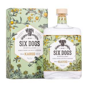 SIX DOGS Karoo Gin 750ml - Together Store South Africa