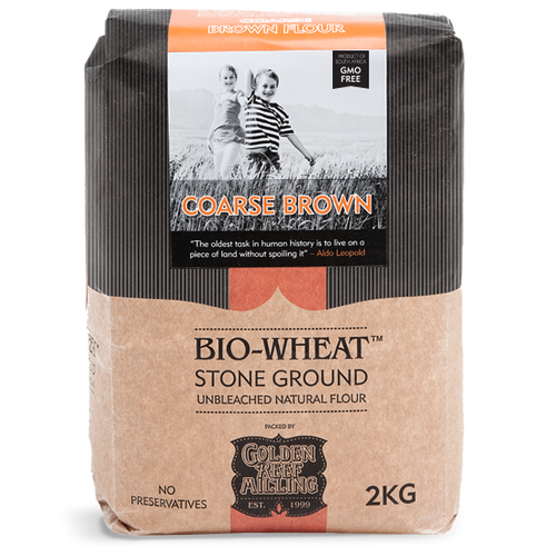BIO-WHEAT - Coarse Brown Flour (2kg) - Together Store South Africa