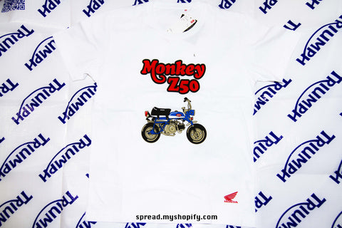 HONDA Z50 MONKEY x UNIQLO, short sleeve shirt, Brand new size:L color: white, Free Economy shipping for AISA, US, AUS, CAN, UK, EURO!