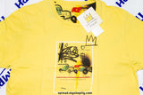 BASQUIAT x UNIQLO T-shirt Brand new size:L color:yellow,Free Economy shipping for AISA, US, AUS, CAN, UK, EURO!