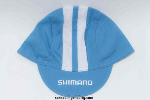 Shimano cycle cap light blue and white Free Economy shipping for AISA, US, AUS, CAN, UK, EURO!