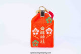 Japanese charm of AOSO shrine color: orange, Free Economy shipping for AISA, US, AUS, CAN, UK, EURO!
